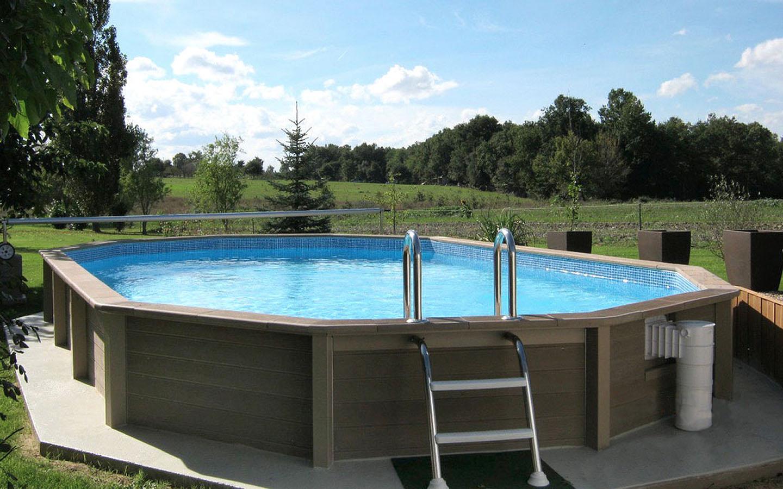 Naturalis piscina semi enterrada em bet o aspeto de madeira for Marcas de piscinas desmontables