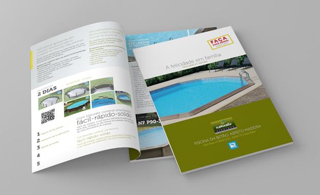 catálogo em papel das piscinas semi enterradas Naturalis