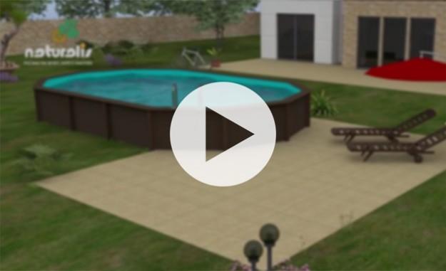 Vídeo da instalação da piscina semi enterrada