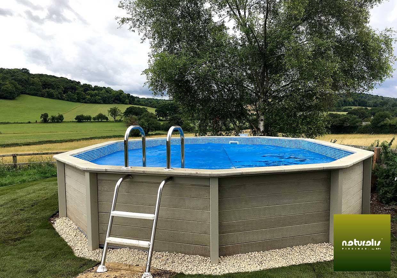 piscina semi enterrada